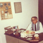 Harold Phillippo in his home office